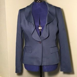 Don't get Ruffled over this Blue Blazer